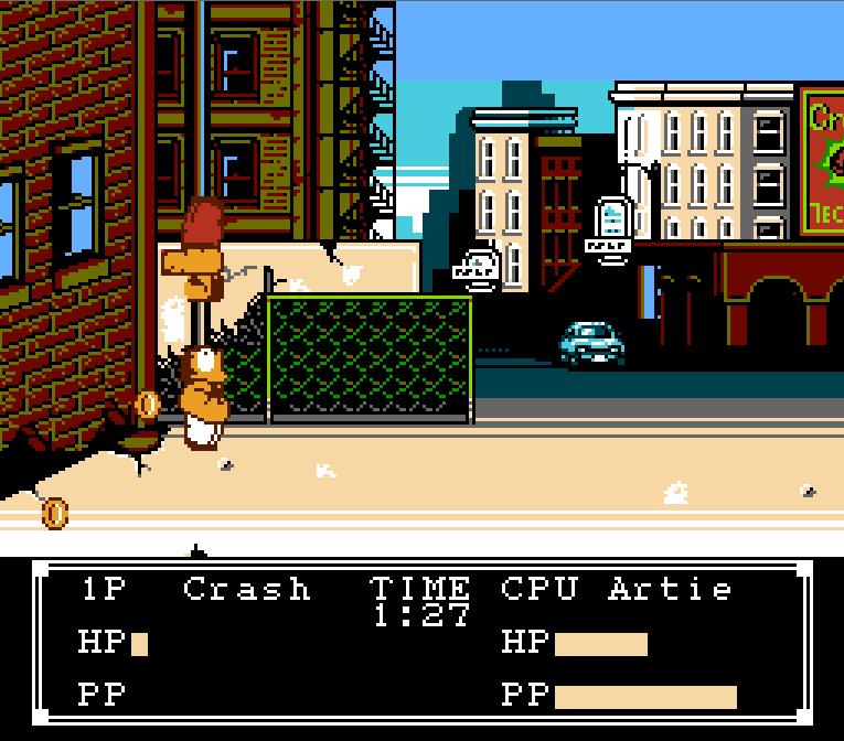 Crash 'n' the Boys - Street Challenge - NES Gameplay Screenshot - 1