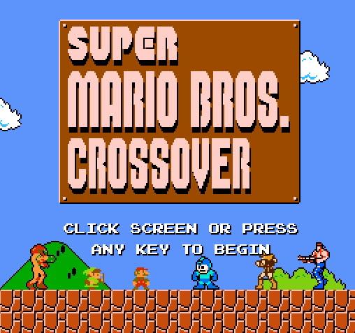 Super Mario Bros Crossover title screen
