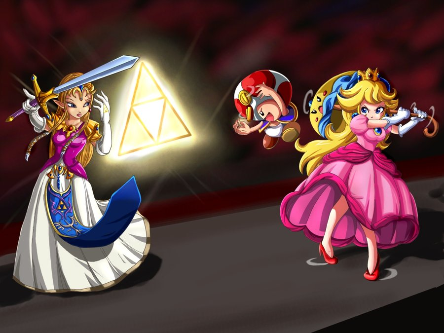 Zelda vs Peach Cosplay