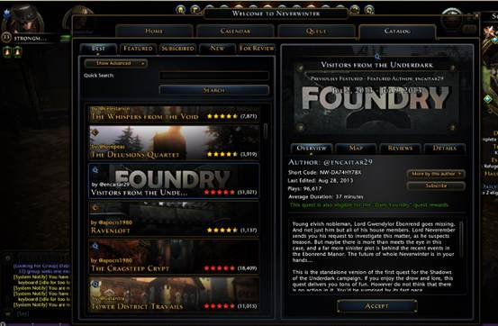 dungeons and dragons online, neverwinter. foundry