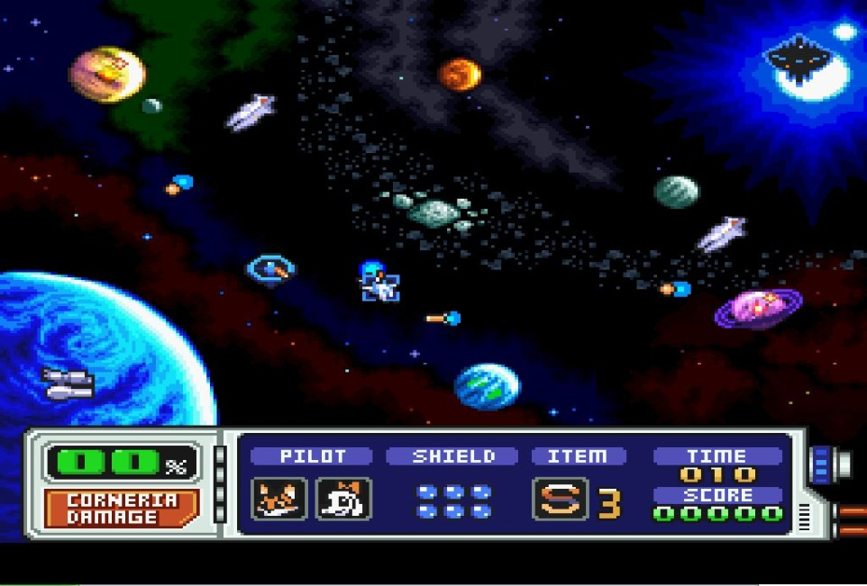 starfox 2 - snes - gameplay screenshot