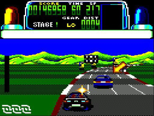 Chase HQ - Amstrad CPC - Gameplay Screenshot