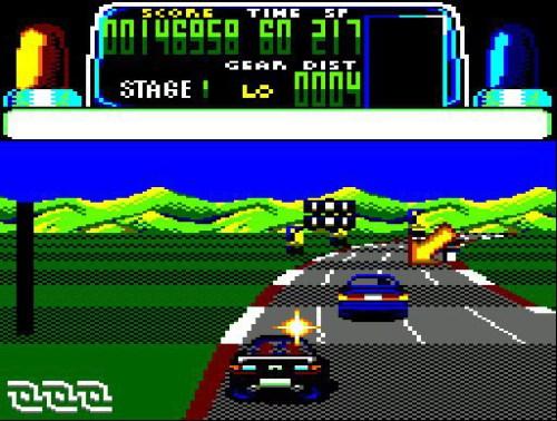 Chase HQ - Amstrad CPC - Gameplay Screenshot