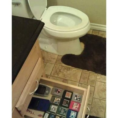 gaming in the bathroom